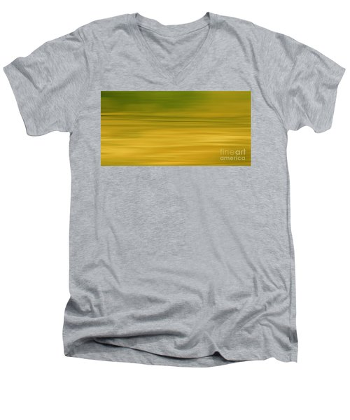 Abstract Earth Motion Lemon Grass Men's V-Neck T-Shirt