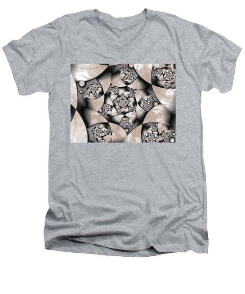 Men's V-Neck T-Shirt featuring the digital art Earth Tones by Gabiw Art