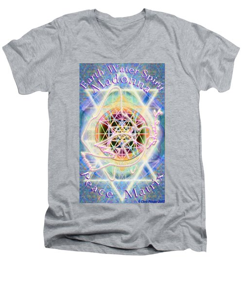 Earth Water Spirit Madonna Peace Matrix Men's V-Neck T-Shirt