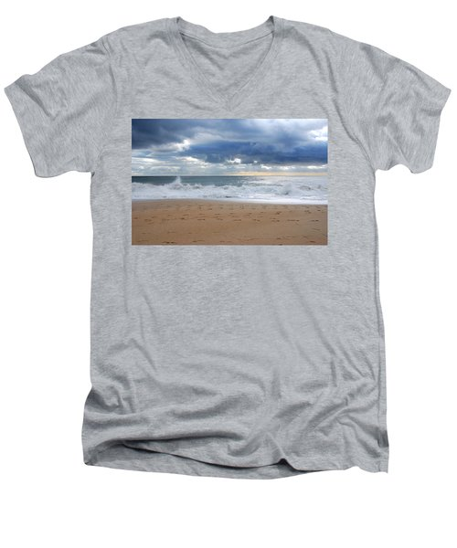 Earth's Layers - Jersey Shore Men's V-Neck T-Shirt