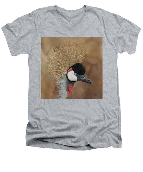East African Crowned Crane Men's V-Neck T-Shirt