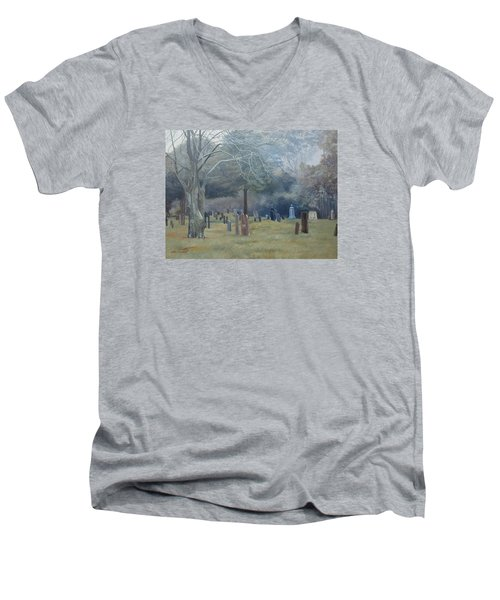 East End Cemetery Amagansett Men's V-Neck T-Shirt