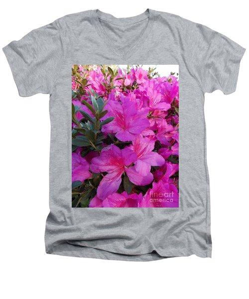Easter Azaelas Men's V-Neck T-Shirt