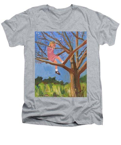 Easter In The Apple Tree Men's V-Neck T-Shirt