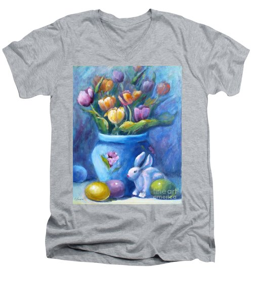 Easter Still Life Men's V-Neck T-Shirt