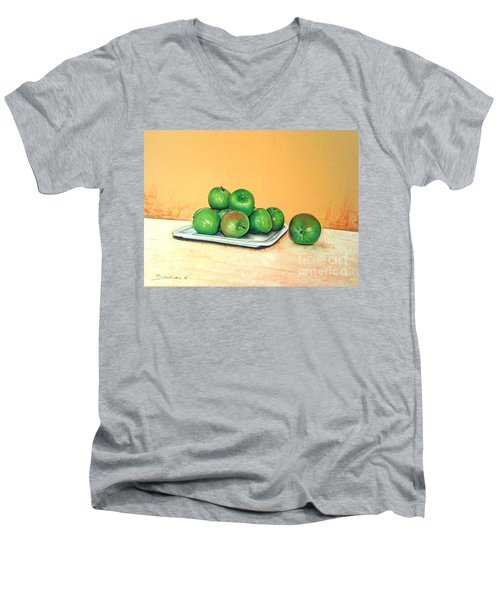 Eat Green Men's V-Neck T-Shirt