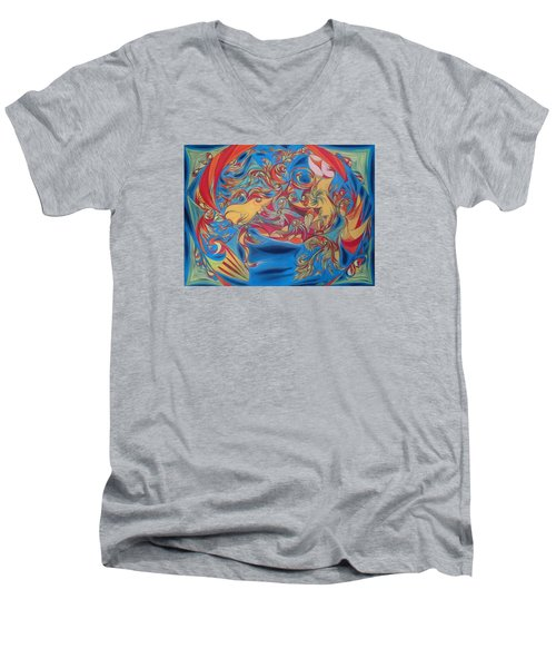 EAT Men's V-Neck T-Shirt