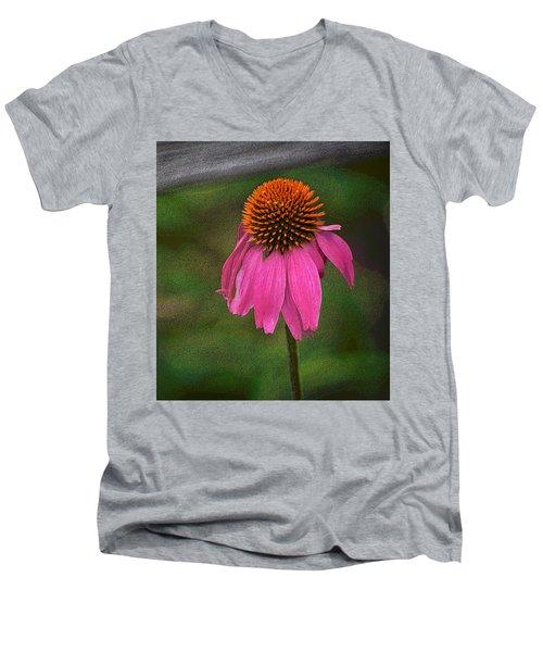 Echinacea  Men's V-Neck T-Shirt