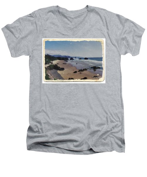 Ecola 1 Men's V-Neck T-Shirt by Chalet Roome-Rigdon