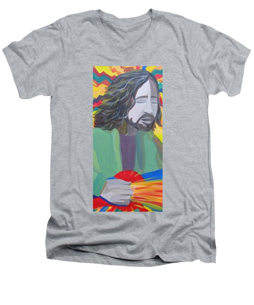 Eddie Men's V-Neck T-Shirt by Kelly Simpson