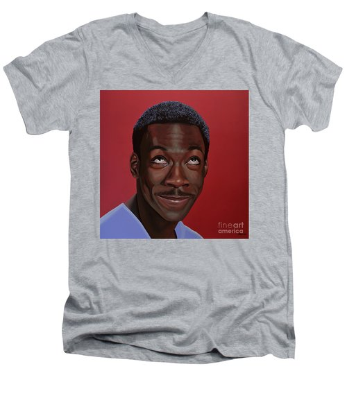 Eddie Murphy Painting Men's V-Neck T-Shirt