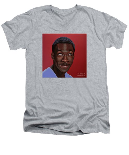 Eddie Murphy Painting Men's V-Neck T-Shirt