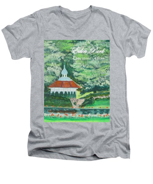 Eden Park Gazebo  Cincinnati Ohio Men's V-Neck T-Shirt