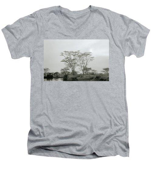 Eden Men's V-Neck T-Shirt by Shaun Higson
