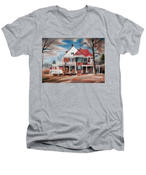 Edgar Home Men's V-Neck T-Shirt