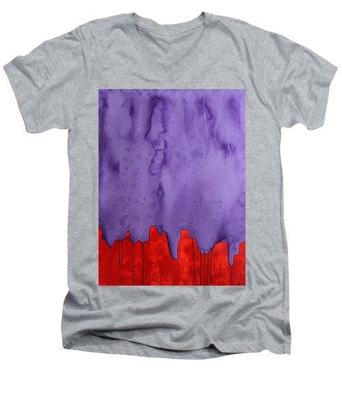 Edge Of The West Original Painting Men's V-Neck T-Shirt