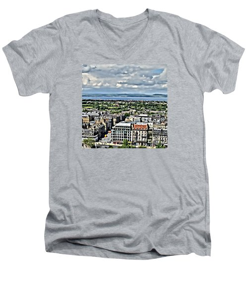 Edinburgh Men's V-Neck T-Shirt