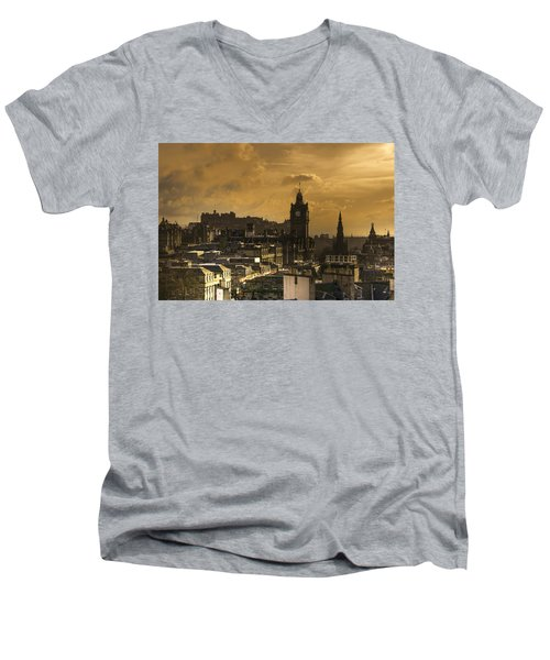 Edinburgh Dusk Men's V-Neck T-Shirt