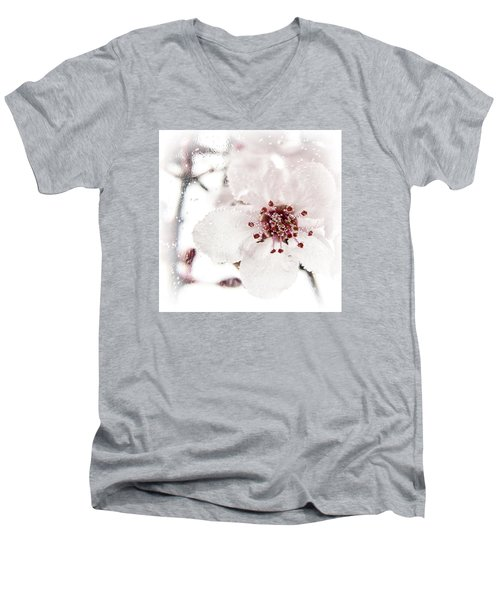 Men's V-Neck T-Shirt featuring the photograph Effervescent by Caitlyn  Grasso