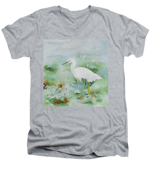 Egret 2 Men's V-Neck T-Shirt