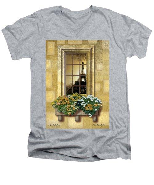 Eiffel Reflection Men's V-Neck T-Shirt