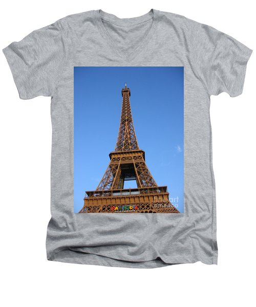 Eiffel Tower 2005 Ville Candidate Men's V-Neck T-Shirt by HEVi FineArt