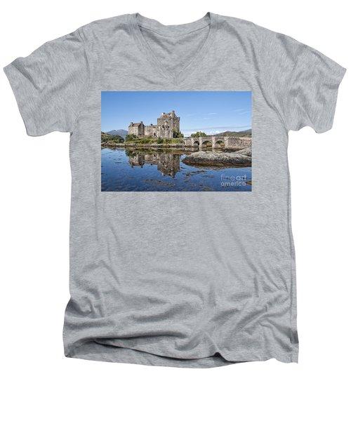 Eilean Donan Castle Reflections Men's V-Neck T-Shirt