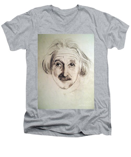 Einstein Men's V-Neck T-Shirt