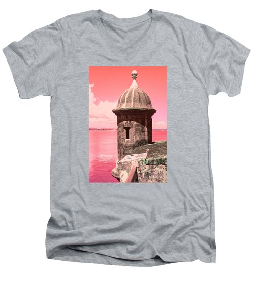 El Morro In The Pink Men's V-Neck T-Shirt