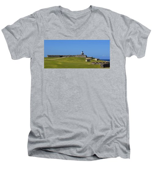 El Morro Panorama Men's V-Neck T-Shirt