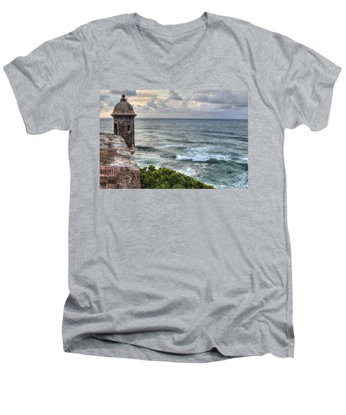 El Morro Sunset Men's V-Neck T-Shirt