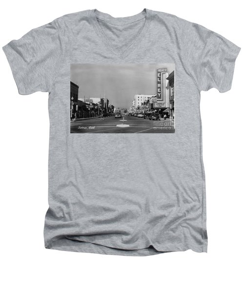 El Rey Theater Main Street Salinas Circa 1950 Men's V-Neck T-Shirt