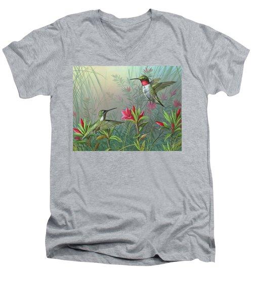 Elegance  Men's V-Neck T-Shirt by Mike Brown