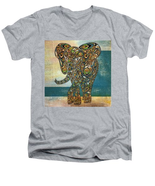 Elefantos - 01ac03at03b Men's V-Neck T-Shirt