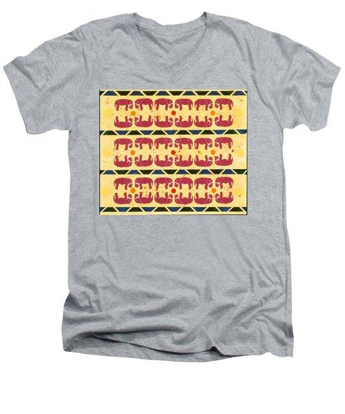 Elephant Dance Men's V-Neck T-Shirt