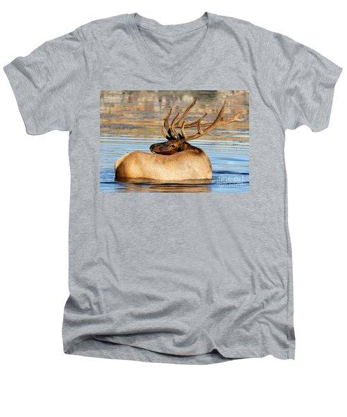 Elk Velveteen  Men's V-Neck T-Shirt