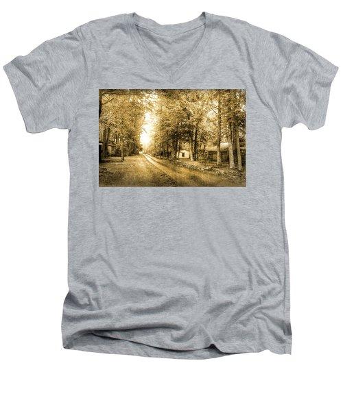 Elkmont Ghost Town Men's V-Neck T-Shirt by Michael Eingle