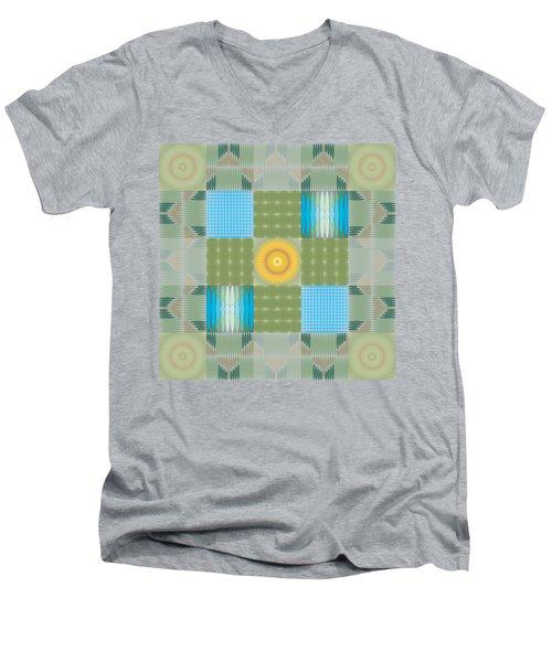 Ellipse Quilt 1 Men's V-Neck T-Shirt by Kevin McLaughlin