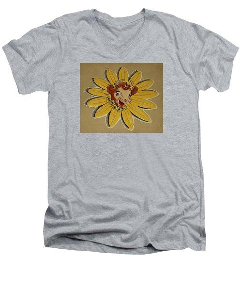 Elsie The Borden Cow  Men's V-Neck T-Shirt by Chris Berry