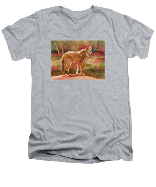 Elusive Visitor Men's V-Neck T-Shirt by Pattie Wall