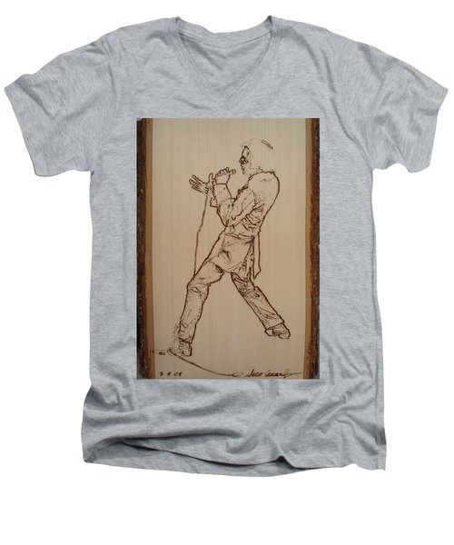 Elvis Presley - If I Can Dream Men's V-Neck T-Shirt by Sean Connolly