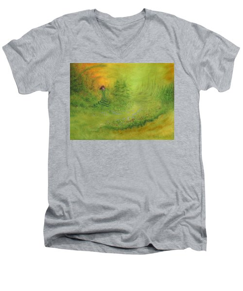 Emerence Men's V-Neck T-Shirt by Mark Minier