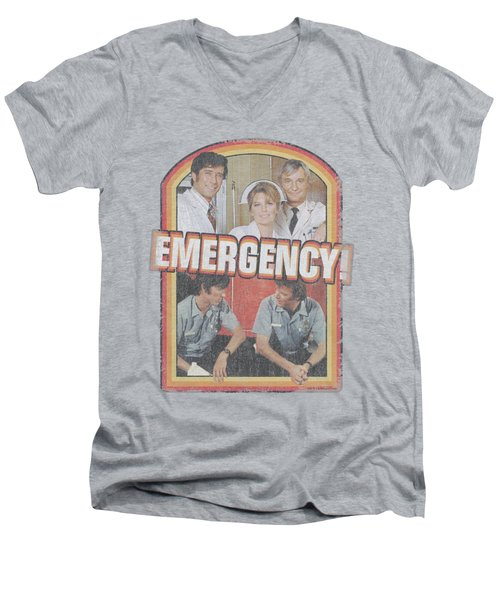 Emergency - Retro Cast Men's V-Neck T-Shirt