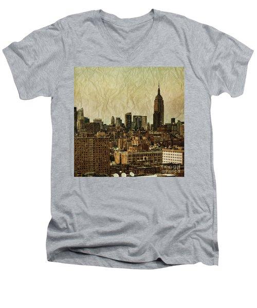 Empire Stories Men's V-Neck T-Shirt by Andrew Paranavitana