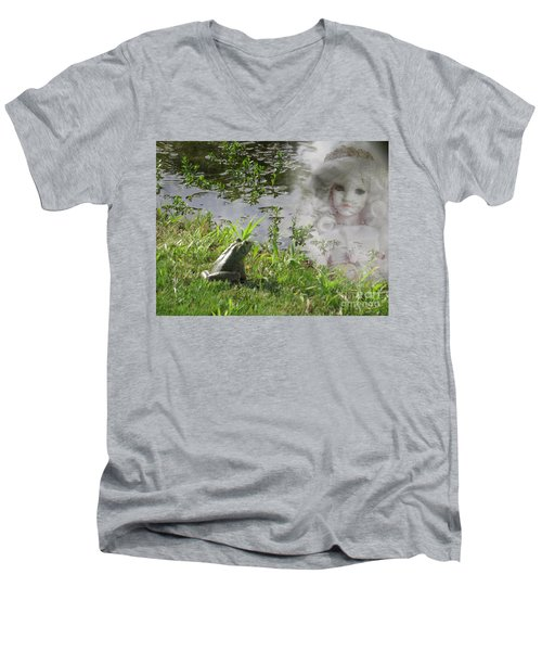 Men's V-Neck T-Shirt featuring the photograph Enchanted Prince Fairy Tale by Ella Kaye Dickey