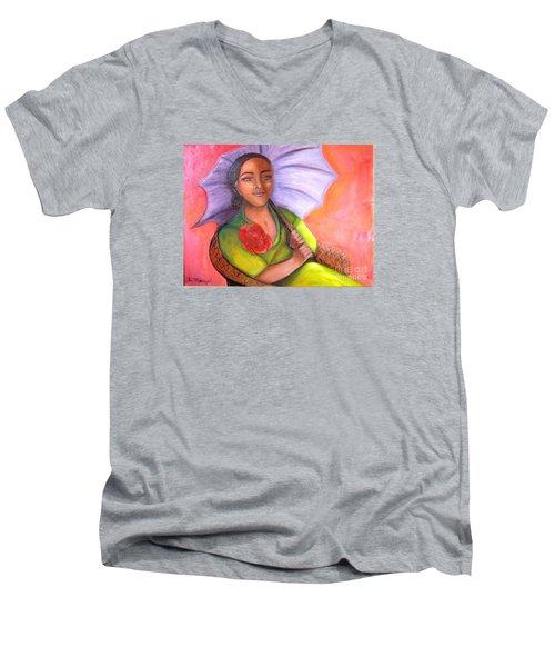 Enchanted Rose Men's V-Neck T-Shirt