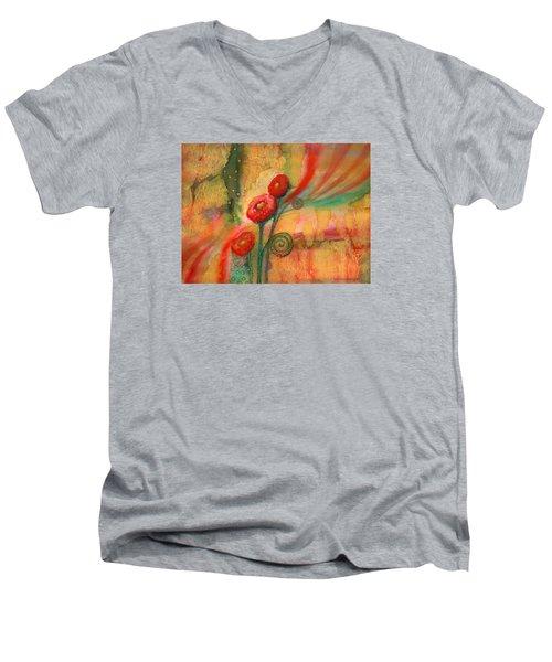 Enchantment Men's V-Neck T-Shirt by Lynda Hoffman-Snodgrass