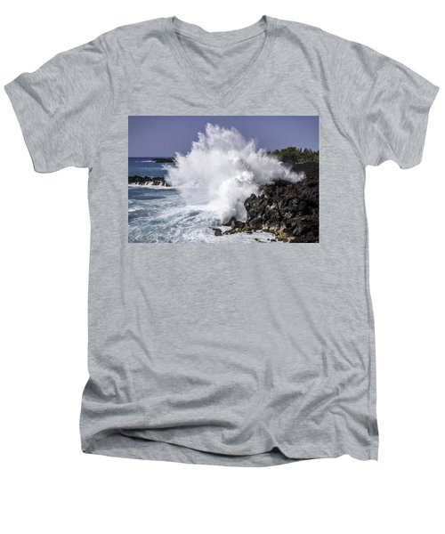 End Of The World Explosion Men's V-Neck T-Shirt by Denise Bird