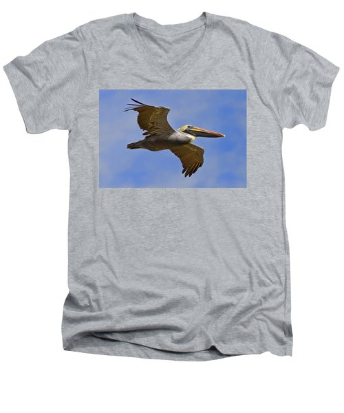 Men's V-Neck T-Shirt featuring the photograph Endangered No More by Gary Holmes
