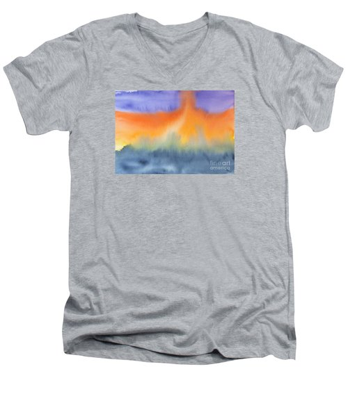 Men's V-Neck T-Shirt featuring the photograph Energy Force by Susan  Dimitrakopoulos